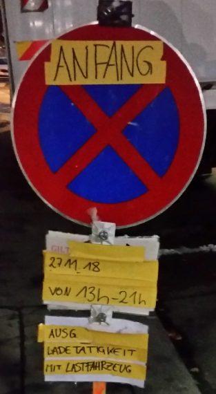 Halteverbotszone in Österreich